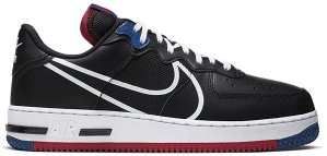 Nike  Air Force 1 Low React Black White Gym Red Gym Blue Black/Gym Red-Gym Blue-White (CT1020-001)