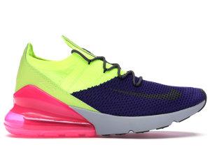 Nike  Air Max 270 Flyknit Regency Purple Volt Regency Purple/Volt-Pink Blast-Thunder Grey (AO1023-501)
