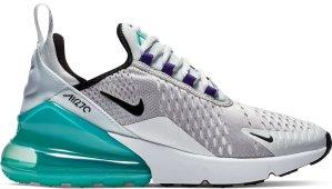 Nike  Air Max 270 Platinum Jade (GS) Pure Platinum/Hyper Jade-White-Black (943345-010)