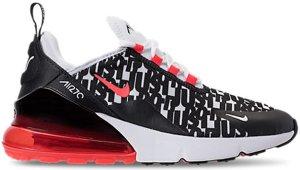 Nike  Air Max 270 Print Black White Bright Crimson (GS) Black/White-Bright Crimson (AR0021-001)