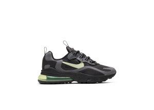 Nike Air Max 270 React Black Barely Volt (GS) Black/Black/Dark Grey (BQ0103-008)