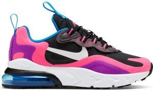 Nike  Air Max 270 React Black Hyper Pink Vivid Purple (PS) Black/White-Hyper Pink-Vivid Purple (BQ0100-001)