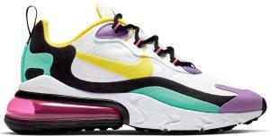 Nike  Air Max 270 React Geometric Art (W) White/Black-Bright Violet-Dynamic Yellow (AT6174-101)