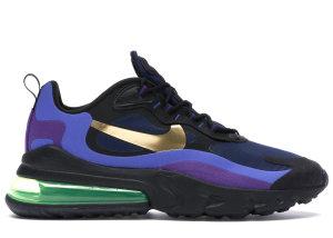 Nike  Air Max 270 React Heavy Metal Black/Deep Royal Blue/Hyper Royal (AO4971-005)
