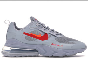 Nike  Air Max 270 React Just Do It Grey Wolf Grey/University Red-Anthracite-Hyper Crimson (CT2203-002)