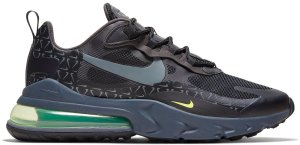 Nike  Air Max 270 React Just Do It Pack Black Black/Wolf Grey-Green-Volt (CT2538-001)