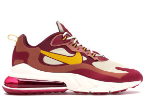 Nike  Air Max 270 React Noble Red Team Gold Noble Red/Team Gold-Dusty Peach-Dark Sulfur (AO4971-601)