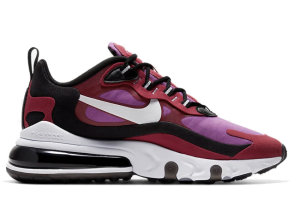 Nike  Air Max 270 React Noble Red (W) White/Black.Noble Red/Vivid Purple (CI3899-600)