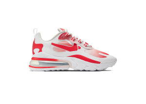 Nike  Air Max 270 React SE Bubble Wrap (W) White/Track Red-Barely Rose (BV3387-100)