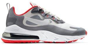 Nike  Air Max 270 React Smoke Grey Red Summit White/Smoke Grey-Particle Grey-White (CT1264-100)