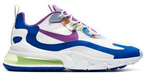Nike  Air Max 270 React White Berry Royal White/Berry-Game Royal-Electric Green (CW0630-100)