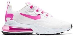 Nike  Air Max 270 React White Fire Pink (W) White/Team Orange-Black-Fire Pink (CJ0619-100)