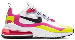 Nike  Air Max 270 React White Pink Yellow (W) White/Black-Pink-Yellow-Red-Blue (CZ9351-100)