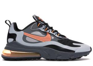 Nike  Air Max 270 React Winter Wolf Grey Total Orange Wolf Grey/Black-Dark Grey-Total Orange (CD2049-006)