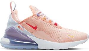 Nike  Air Max 270 Washed Coral Football Grey (W) Washed Coral/White-Football Grey-Track Red (CW5589-600)