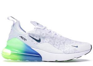Nike  Air Max 270 White Lime Blast Photo Blue White/Lime Blast-Photo Blue-White (AQ9164-100)