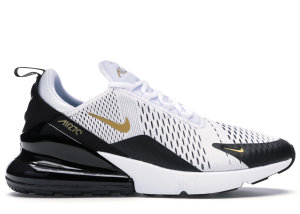 Nike  Air Max 270 White Metallic Gold Black White/Metallic Gold-Black (AV7892-100)