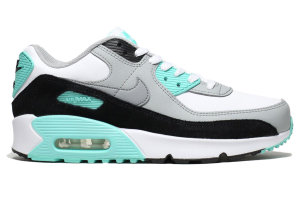 Nike  Air Max 90 LTR Particle Grey Teal (GS) WHITE/PARTICLE GREY-LT SMOKE GREY (CD6864-102)