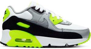 Nike  Air Max 90 OG Volt 2020 (PS) White/Particle Grey-Black-Volt (CD6867-101)
