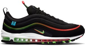 Nike  Air Max 97 Worldwide Black Black/Flash Crimson-White-Green Strike (CZ5607-001)