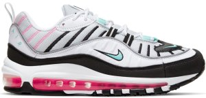 Nike  Air Max 98 South Beach (W) Pure Platinum/Black-Pink Blast-Aurora Green (AH6799-065)