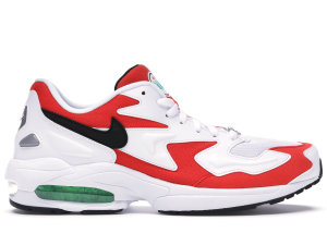 Nike  Air Max2 Light Habanero Red White/Black-Habanero Red-Cool Grey-Electro Green-Hyper Jade (AO1741-101)