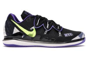 Nike  Air Zoom Vapor X Kyrie 5 US Open (2019) Black/Psychic Purple-White-Volt (BQ5952-002)