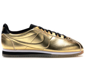 Nike  Classic Cortez Metallic Gold (W) Metallic Gold/Metallic Gold-White-Black (902854-700)