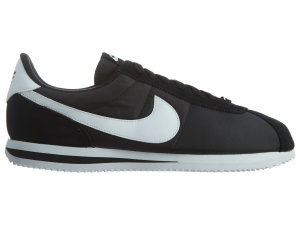 Nike  Cortez Basic Nylon Black White-Metallic Silver Black/White-Metallic Silver (819720-011)