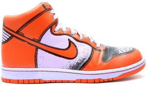 Nike  Dunk High 1 Piece Premium Lilac Ice Deep Orange Lilac Ice/Deep Orange (318998-581)