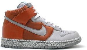 Nike  Dunk High Earthquake Dark Orange Dark Orange/Cool Grey-Aqua Fuel Blue (306968-801)
