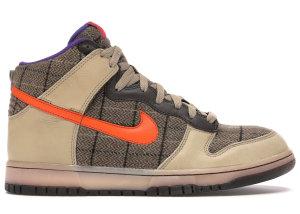 Nike  Dunk High Premium Tweed Orange Blaze Tweed/Orange Blaze/Varsity Purple (312786-283)