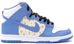 Nike  Dunk High Pro SB Supreme Blue Stars White/University Blue (307385-141)