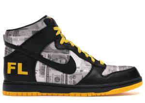 Nike  Dunk High Supreme TZ LAF FLOM Black/Black-Varsity Maize (378127-001)