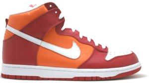 Nike  Dunk High Varsity Red Orange Blaze Varsity Red/White-Orange Blaze (309432-612)