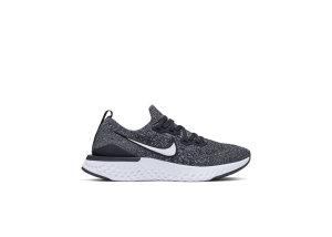 Nike  Epic React Flyknit 2 Black (GS) Black/White/White (AQ3243-001)