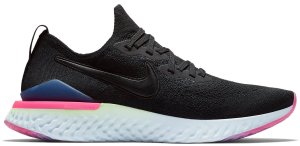 Nike  Epic React Flyknit 2 Black Sapphire Hyper Pink Black/Black-Sapphire-Lime Blast-Hyper Pink-Blue Tint (BQ8928-003)