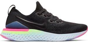 Nike  Epic React Flyknit 2 Black Sapphire Hyper Pink (GS) Black/Black-Sapphire-Lime Blast-Hyper Pink-Blue Tint (AQ3243-003)