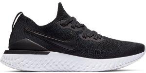 Nike  Epic React Flyknit 2 Black White (W) Black/Black-Gunsmoke (BQ8927-002)