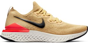 Nike  Epic React Flyknit 2 Club Gold Black Red Orbit Club Gold/Black-Red Orbit-Metallic Gold (BQ8928-700)