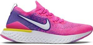 Nike  Epic React Flyknit 2 Laser Fuchsia White (W) Laser Fuchsia/Yellow Pulse-White (CK0821-600)
