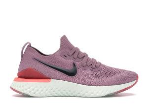 Nike  Epic React Flyknit 2 Plum Dust (W) Plum Dust/Black-Ember Glow-Bleached Coral-Barely Grey (BQ8927-500)
