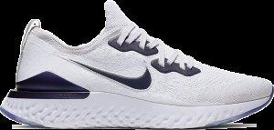Nike  Epic React Flyknit 2 Vast Grey Vast Grey/White/Court Purple (CK0836-001)