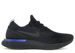 Nike  Epic React Flyknit Black Racer Blue (W) Black/Black-Racer Blue (AQ0070-004)