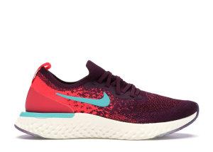 Nike  Epic React Flyknit Bordeaux Hyper Jade (W) Bordeaux/Hyper Jade-Sail-Red Orbit (AR5518-600)