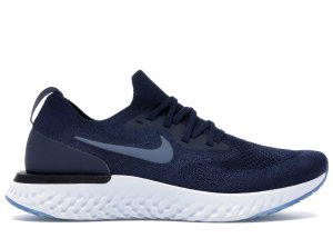 Nike  Epic React Flyknit College Navy Diffused Blue College Navy/Football Grey-Black-Diffused Blue (AQ0067-402)