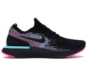 Nike  Epic React Flyknit South Beach Black/Black-Hyper Jade-Laser Fuchsia (BV1572-001)