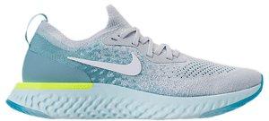 Nike  Epic React Flyknit Volt Glow (W) Pure Platinum/White-Mica Blue-Volt Glow-Glacier Blue (AQ0070-008)