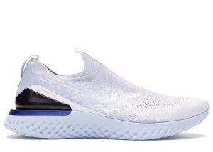 Nike  Epic React Moc Flyknit White Hydrogen Blue White/White-Hydrogen Blue-Blue Tint-Racer Blue-Wolf Grey (BV0417-101)