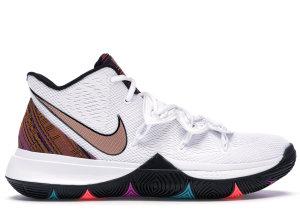 Nike  Kyrie 5 BHM (2019) White/Metallic Gold-Black (BQ6237-100)